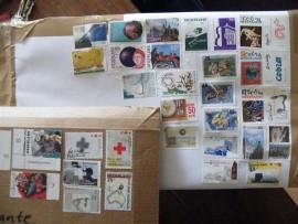 Postzegels wegwerken