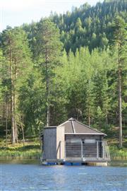 De hut op het water. Foto Koos Dijksterhuis